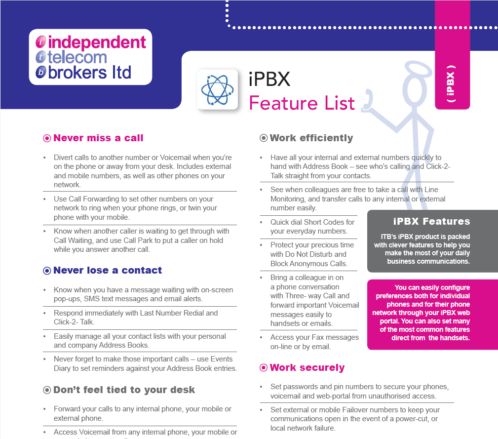 iPBX Feature List PDF | Click The Image To Download Manuall